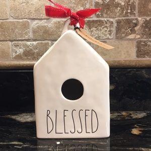 New Rae Dunn BLESSED Birdhouse